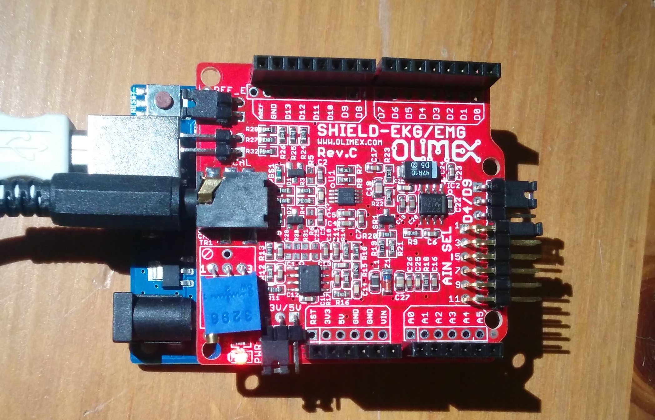 Arduino ecg shield